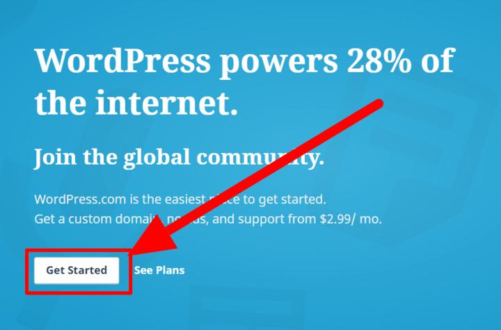 Wchodzimy na stronę oficjalną WordPressa