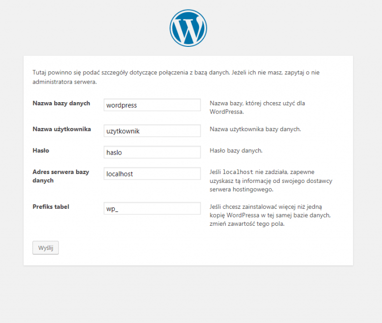 Proud Media - WordPress instalacja