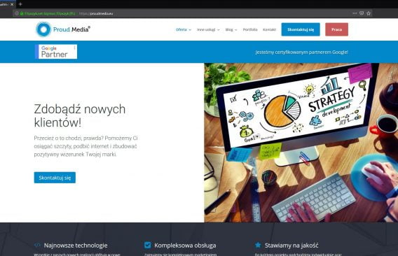 Proud Media - Nowa strona internetowa – Proud Media